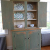 BRYAN EATON/Staff photo. The kitchen has elements of new and old including this hutch.