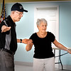 BRYAN EATON/Staff photo. Ed Cook and Ginny Small team up to practice what they've learned in ballroom dancing lessons at the Hilton Senior Center in Salisbury. The lessons are taught by Ivana Ruzkova every Wednesday at 10:00 a.m.