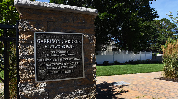 BRYAN EATON/Staff photo. A newer section of Atwood Park is Garrison Gardens named after the 19th century abolitionist William Lloyd Garrison who was born across the street.