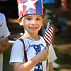 BRYAN EATON/Staff photo. Zachary Stanganelli, 5, of Amesbury was dressed patriotically as he attended Amesbury Days' Pancake Breakfast in the Pines on July Fourth.