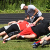 BRYAN EATON/Staff photo. Kevin Johnson works with teens on CORE training.
