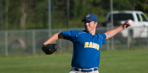 JIM VAIKNORAS/Staff photo Rowley's Joe White pitches against Manchester at Eiras Field in Rowley Wednesday.