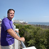BRYAN EATON/Staff photo. Michael McCormack, who is suffering from early onset of Alzheimers, loves to see the ocean every day and to walk along the shore and here at the new boardwalk.