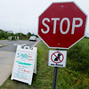JIM VAIKNORAS/Staff photo  Sign warning against green head flies at the entrance to the Parker River Wild Life Refuge.
