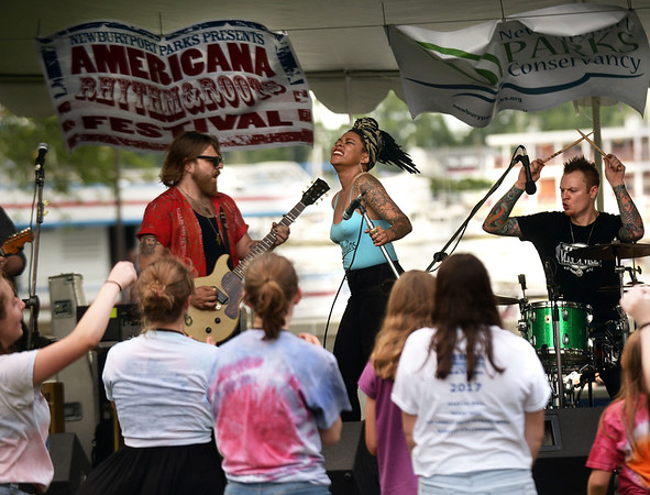 Hundreds of people enjoyed the Americana Rhythm and Roots Festival last Saturday at the Waterfront Park in Newburyport.