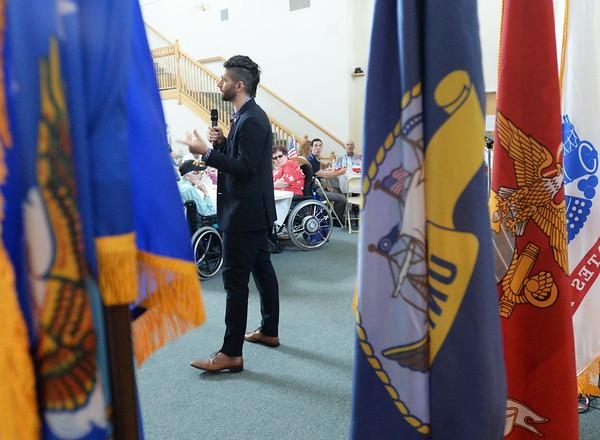 BRYAN EATON/Staff Photo. Former U.S. Navy Seal Sal DeFranco was the keynote speaker at the Annual Veterans Luncheon.