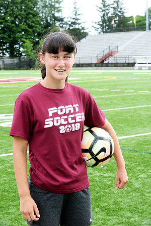 BRYAN EATON/Staff Photo. Newburyport High School freshman Deidre McElhinney.