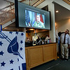 BRYAN EATON/Staff Photo. U.S. Army Chief of Staff Gen. Mark A. Milley appeared on video to greet people at the Veterans Luncheon.
