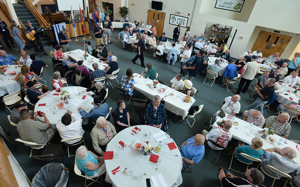 BRYAN EATON/Staff Photo. The Hope Community Church was packed for the Annual Veterans Luncheon.
