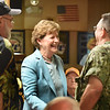 BRYAN EATON/Staff Photo. U.S. Senator Jeanne Shaheen (D-NH) greets people at the American Legion Post 70 in Seabrook on Saturday.
