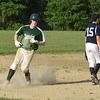 BRYAN EATON/Staff photo. Pentucket's George Clohisy makes it to third and later made it home.