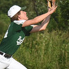 BRYAN EATON/Staff photo. Pentucket second baseman Christian Carretero makes a catch of a pop up.