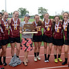 JIM VAIKNORAS/Staff photo Newburyport girls lacrosse Coach Catherine Batchelder and her seniors.