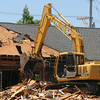 JIM VAIKNORAS/Staff photo Demolition of the old Salisbury library to make room for the new library.