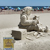 "BRYAN EATON/File Photo. Sand sculptor Justin Gordon of Groveland has his sand sculpture on display at the 16th Annual Hampton Beach Master Sand Sculpting Classic ""Under the Sea… Sand Sculpting Classic."" His work, entitled ""She Loves Me"" was one of the works of art vandalized."
