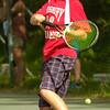 BRYAN EATON/Staff Photo. Amesbury second singles player Matt Nardone.