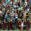 BRYAN EATON/Staff Photo. The Newburyport High class of 2016 exits World War Memorial Stadium on Monday night.