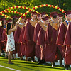 BRYAN EATON/Staff Photo. The Newburyport High class of 2016 march onto Stehlin Field for graduation excercises.