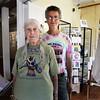 BRYAN EATON/Staff photo. Audrey Bechler with her son Douglas at the Newburyport Art Association.