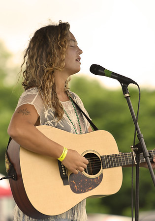 JIM VAIKNORAS/Staff photo Jordan Renzi performs at the Byfield Music and Art Festival Saturday.