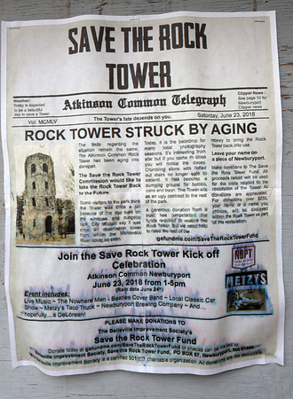 BRYAN EATON/Staff photo. A move is underway to save the tower at Atkinson Common in Newburyport.