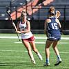 JIM VAIKNORAS/Staff photo Newburyport's Molly Rose Kearney makes a move against Swampscott's Nikki Rosa during their game at World War Memorial Stadium in Newburyport Tuesday.