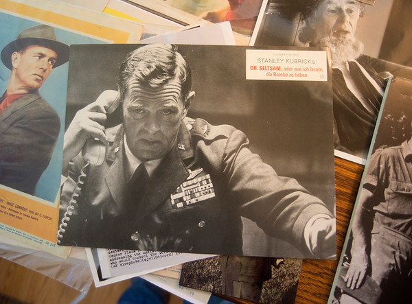 JIM VAIKNORAS/Staff photo Publicity phoos of actor Sterling Hayden at his son's home in Newburyport.