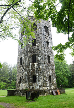 BRYAN EATON/Staff photo. The rock tower at Atkinson Common in Newburyport was built in the 1930's replacing a wooden one.