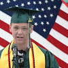 JIM VAIKNORAS/Staff photo Pentucket Class President Connor Hileman gives the welcome at the commencement at the school Saturday morning.