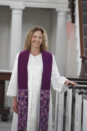 JIM VAIKNORAS/Staff photo Rev Rebecca Ryan is the new minister at the Unitarian Church in Newburyport.
