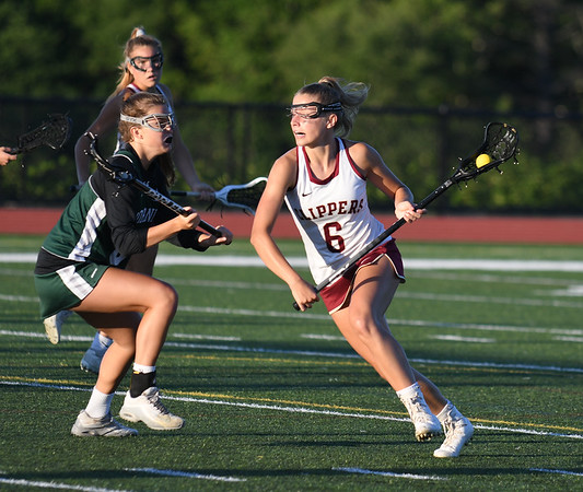 JIM VAIKNORAS/Staff photo Newburyport's Molly Rose Kearney makes a move during the North Final against Manchester Essex at Triton in Byfield. Newburyport won the game 17-8.