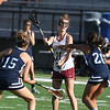 JIM VAIKNORAS/Staff photo Newburyport's Ashley McIntire makes a pass against Swampscott during their game at World War Memorial Stadium in Newburyport Tuesday.