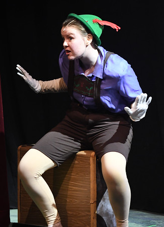 "JIM VAIKNORAS/Staff photo  Katelin Garland of Concord NH as Pinnocchio in the Firehouse production of ""Shrek The Musical""."