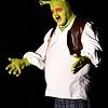 "JIM VAIKNORAS/Staff photo James Turner of Hamilton as Shrek in the Firehouse production of ""Shrek The Musical""."