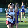 JIM VAIKNORAS/Staff photo Newburyport's Margaret Cote advances the ball during the Clippers 14-11 lose to Norwell in the State semi-final game at Babson College Tuesday night.