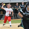 JIM VAIKNORAS/Staff photo Amesbury's Julia Campbell throws out a runner against Austin Prep at Martin Field in Lowell Saturday. The Indians fell to Austin Prep 3-0.