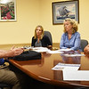 BRYAN EATON/Staff photo. Meeting with the Daily News, from left, David Chatfield, Julia Godtfredsen, Molly Ettenborough and Mike Morris.