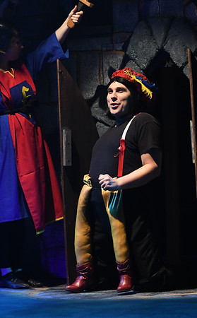"JIM VAIKNORAS/Staff photo Josh Lapierre of Hubbardston as Lord Farquaad in the Firehouse production of ""Shrek The Musical""."