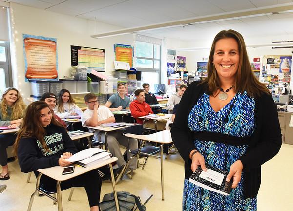 BRYAN EATON/Staff photo. Amesbury High School math teacher Jessica Regis is the Rotary Club's Teacher of the Year.