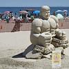 "BRYAN EATON/Staff Photo. Groveland artist Justin Gordon created the ""Hulk 3-D"" at this weekend's Hampton Beach Master Sand Sculpting Classic."