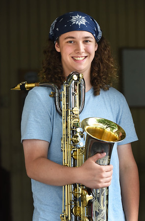 BRYAN EATON/Staff Photo. Zack Murphy from Pentucket High School has been named to the All National Jazz Band, one of only 20 students nationwide.