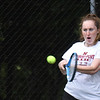 BRYAN EATON/Staff Photo. Katherine O'Connor in third singles action against Belmont.