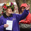 BRYAN EATON/Staff Photo. Daley looks over this year's May Day Celebration at Brown Square in Newburyport.