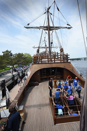 BRYAN EATON/Staff Photo. The Nao Santa Maria has been a big draw on Newburyport's waterfront.