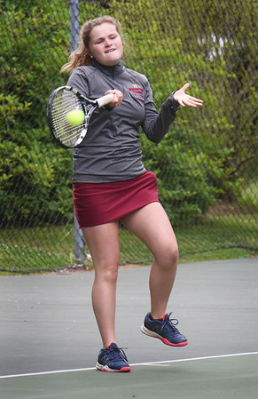 BRYAN EATON/Staff Photo. Sophie Page in second singles action.