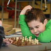 BRYAN EATON/Staff photo. Chess is a calculating and emotionless game, especially at the world championship level. But when you're nine years old and only been playing two weeks like Max Piotrowski, right, and Brynn Ponting, it can be full of emotion. The two were in one of the Bresnahan School's Afterschool Enrichment Programs sponsored by the Bresnahan PTO. Brynn captures a bishop, but the game wasn't over yet.