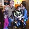 JIM VAIKNORAS/Staff photo Kristen and Jim Farrell with their kids Braeden and Kernan. Both kids have Spinal Muscular Atrophy, they will be having a fund raiser on March 24th.