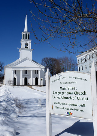 BRYAN EATON/Staff photo. Main Street Congregational  Church in Amesbury.