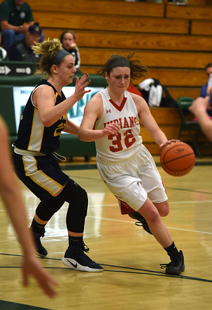 JIM VAIKNORAS/Staff photo Amesbury's Abigail Sartori drives to the basket against St Mary's at Billerica high school Tuesday night.