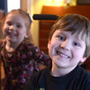 JIM VAIKNORAS/Staff photo  Braeden and Kernan Farrell pose in their Newburyport home. Both kids have Spinal Muscular Atrophy, they will be having a fund raiser on March 24th.